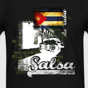 salsa your live  - Herre kontrast-T-shirt
