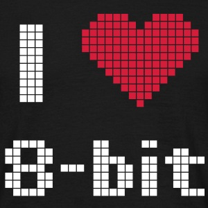 Retro Games - I love 8bit T-shirts - Mannen T-shirt