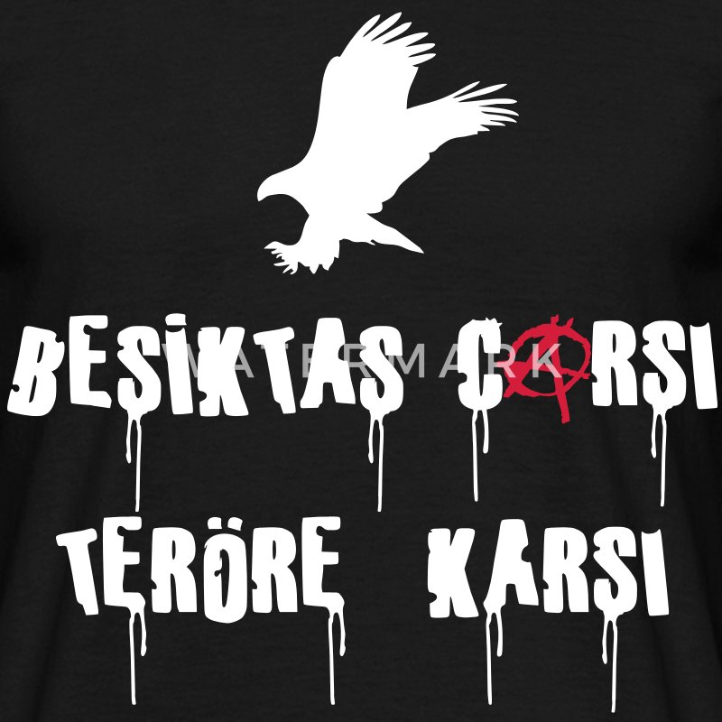 besiktas_carsi_teroere_karsi - Men's T-Shirt