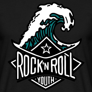 rock`n roll wave - Männer T-Shirt