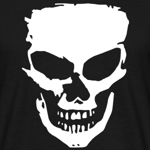 angry skull T-shirts - Mannen T-shirt