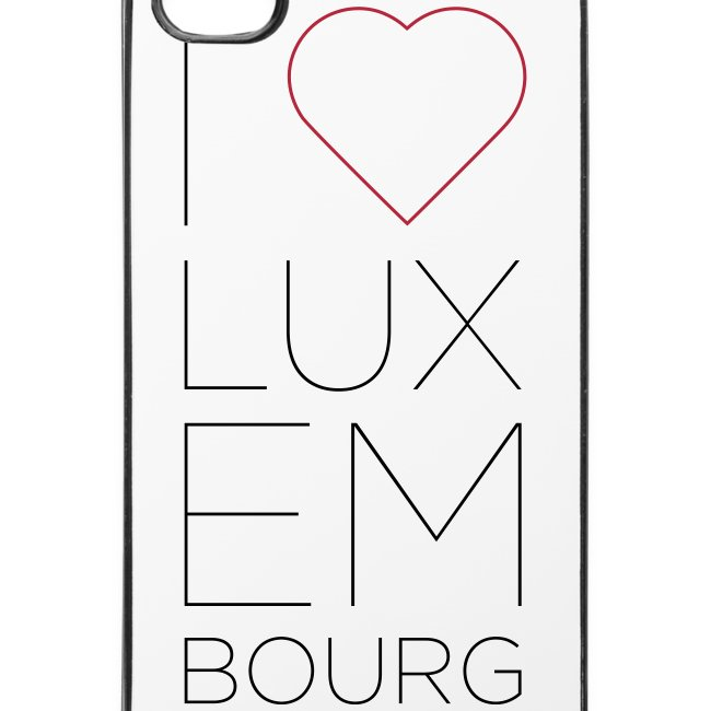 I Love Luxembourg - iPhone 4/4S cover
