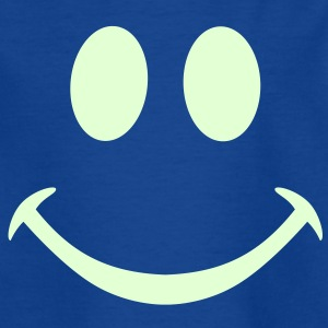 smiley smily enfant phosphorescent nuit happy heureux cool - T-shirt Enfant