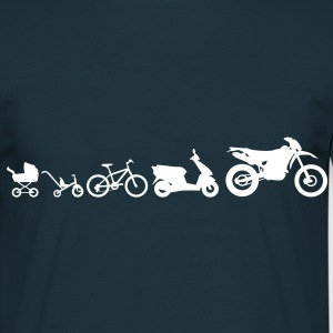 Motorcycle Evolution Endurocross  T-shirts - Mannen T-shirt
