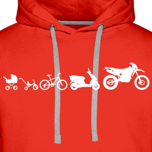 Moto Evolution Endurocross  Sweat-shirts - Sweat-shirt à capuche Premium pour hommes