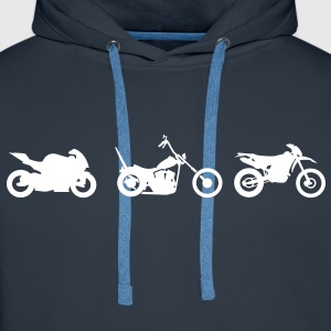 Chopper motorcycle racing Endurocross  Hoodies & Sweatshirts - Men's Premium Hoodie