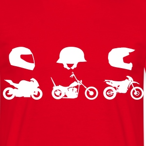 Chopper motorcycle racing helmet with Endurocross  T-Shirts - Men's T-Shirt