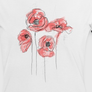 poppy flowers - Women's Ringer T-Shirt