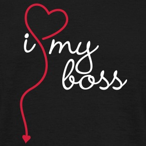 I HEART / LOVE my boss | unisex shirt - Männer T-Shirt
