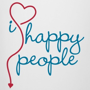 I HEART / LOVE happy people | Bierkrug - Bierkrug