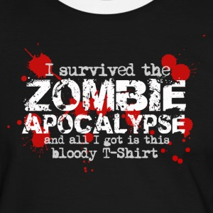 I survived the zombie apocalypse and all I got is this bloody T-Shirt T-Shirts - Männer Kontrast-T-Shirt