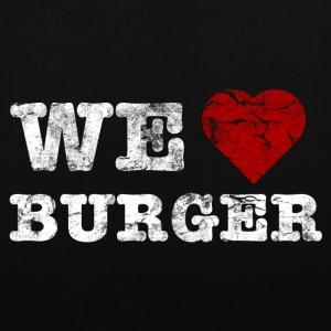 we_love_burger_vintage_hell Tassen - Tas van stof