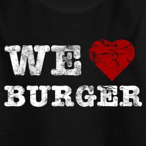 we_love_burger_vintage_hell Shirts - Teenager T-shirt