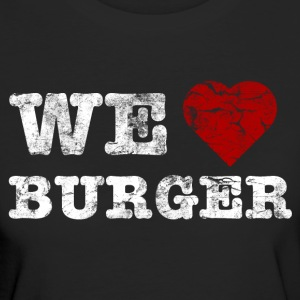 we_love_burger_vintage_hell T-shirts - Vrouwen Bio-T-shirt