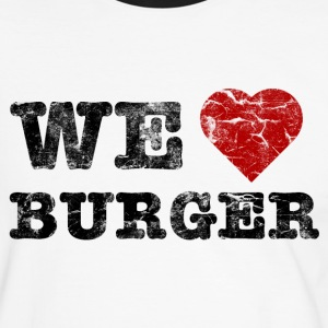 we_love_burger_vintage T-shirts - Herre kontrast-T-shirt