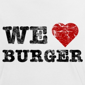 we_love_burger_vintage T-Shirts - Women's Ringer T-Shirt