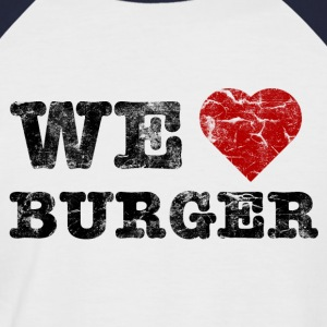 we_love_burger_vintage Tee shirts - T-shirt baseball manches courtes Homme