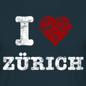 i_love_zürich_vintage_light T-shirts - Herre-T-shirt