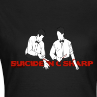 Design ~ Suicide in C Sharp: Girl's Fitted Tee