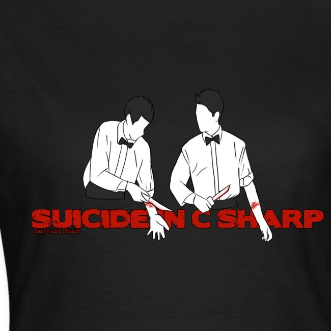 Suicide in C Sharp: Girl's Fitted Tee
