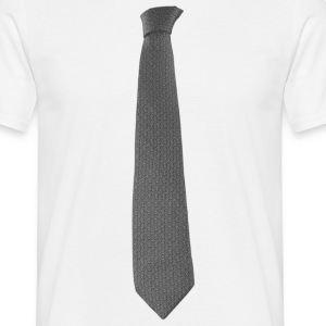 Grey Tie T-Shirts - Men's T-Shirt