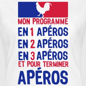 apero alcool election gouvernement progr Tee shirts - T-shirt Femme