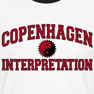 Copenhagen Intepretation (BLACK OUTLINE) T-Shirts - Men's Ringer Shirt