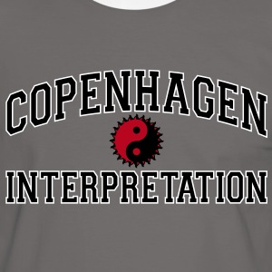 Copenhagen Intepretation (BLACK LETTERS) T-Shirts - Men's Ringer Shirt