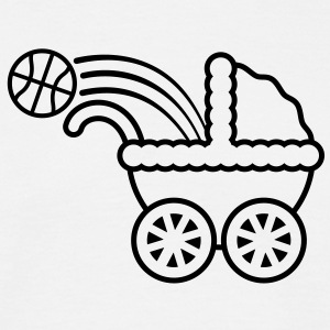 born_to_play_basketball T-shirts - Mannen T-shirt