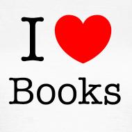 Grafiikka ~ Naisten (I Love Books) T-paita