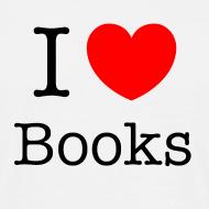 Grafiikka ~ Miesten (I Love Books) T-paita