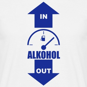 alkohol in out T-Shirts - Männer T-Shirt