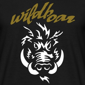 wildboar__face_on_dark Tee shirts - T-shirt Homme