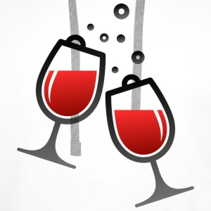 Wine Glasses (dd)++ Hoodies & Sweatshirts - Men's Premium Hoodie