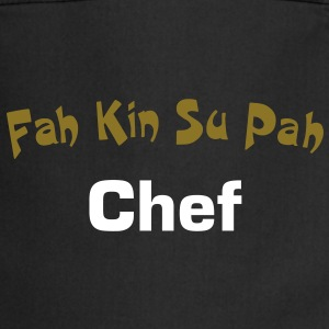 Super fun text FahKinSuPah design patjila  Aprons - Cooking Apron