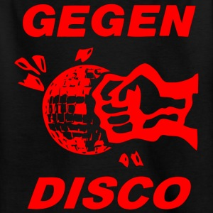Gegen Disco (red print) - Teenager T-Shirt