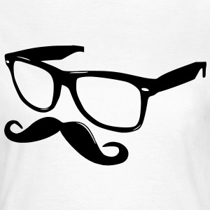 nerdy moustache - Women's T-Shirt