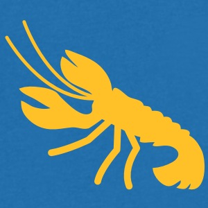 a lobster crayfish marine animal in the ocean  T-Shirts - Men's V-Neck T-Shirt