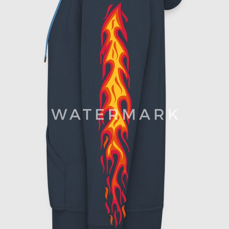 flames, flammen, fire, Feuer, arm, sleeves, tattoo - Men's Premium Hooded Jacket