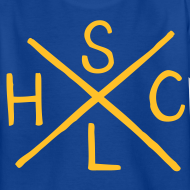 Design ~ SLHC X t-shirt yellow/blue KIDS