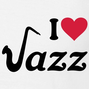 I love Jazz Saxophone Sax Music Instument T-Shirts - Men's T-Shirt