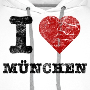 i_love_muenchen_vintage Sweat-shirts - Sweat-shirt à capuche Premium pour hommes