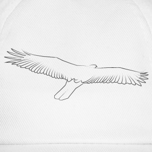 Line drawing eagle black Caps & Hats - Baseball Cap