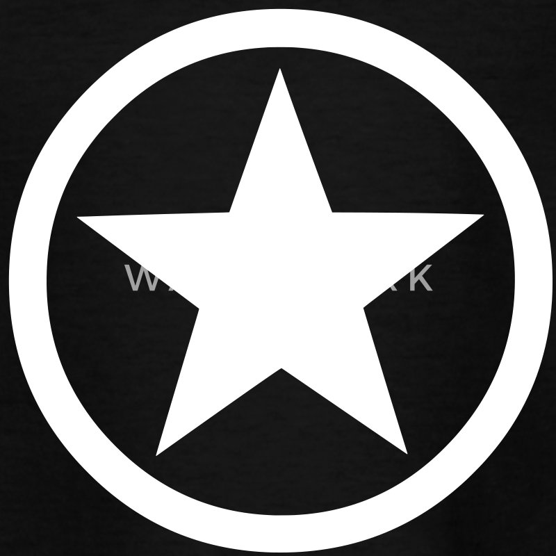 Star Inside Circle Shirts - Teenage T-shirt
