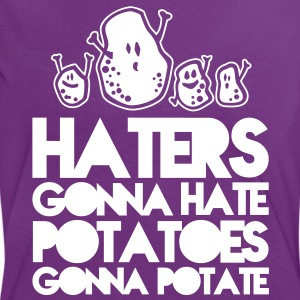 haters gonna hate potatoes gonna potate T-Shirts - Women's Ringer T-Shirt
