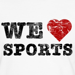 we_love_sports_vintage T-skjorter - Kontrast-T-skjorte for menn