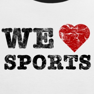 we_love_sports_vintage T-shirts - Vrouwen contrastshirt
