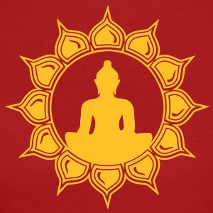 Buddha im Lotus - Meditation T-Shirts - Frauen Bio-T-Shirt