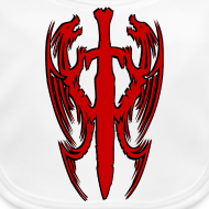 Motif ~ Bavoir double dragon chinois
