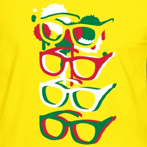 Four colorful sunglasses in graffiti style T-Shirts - Men's Ringer Shirt